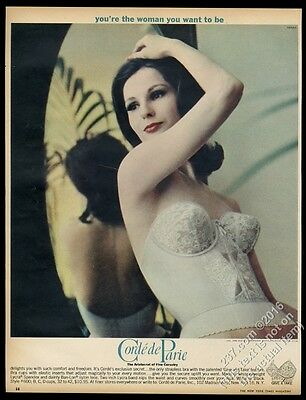 1962 Corde de Parie strapless bra woman color photo vintage print ad