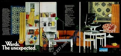 1970 Montgomery Ward modern chair table sofa furniture photo vintage print ad