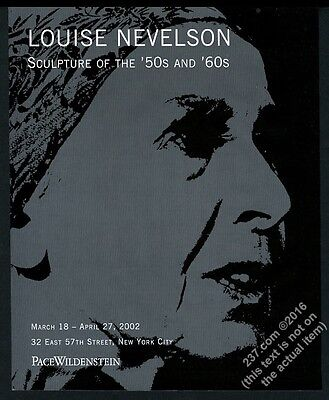 2002 Louise Nevelson photo NYC art gallery show vintage print ad