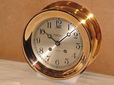 Chelsea Antique Ships Bell Clock~6 In Dial~1925~Red Brass~Restored