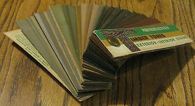 35 vintage WOOD STAIN SAMPLE book Preservative Paint SEATTLE construction