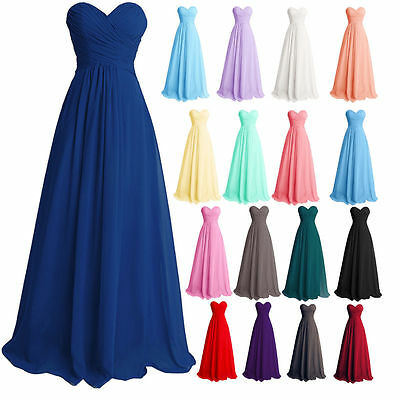 Formal Wedding Party Long Bridesmaid Dress Evening Cocktail Party Ball Gown Prom
