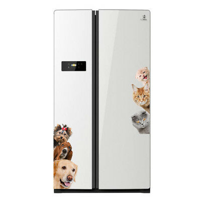 Cartoon Fridge Decoration Home Decal Room Entrance Sticker Dog Cat Wall Mural