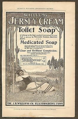 Vintage Ad Munsey's Magazine - Williams' Jersey Cream Toilet Soap & More