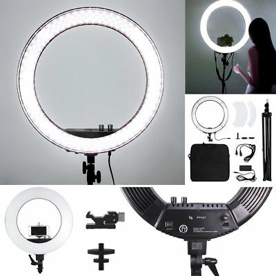 """18"""" LED Photography Diva Ring Light Dimmable 5500K Lighting Photo Video Stand"""