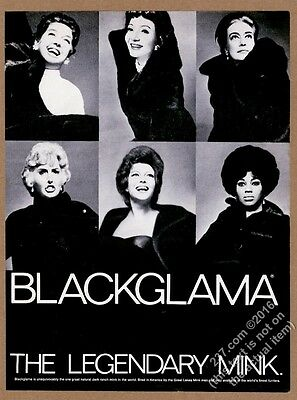 1972 Joan Crawford Rita Hayworth etc 6 photo Blackglama fashion vintage print ad