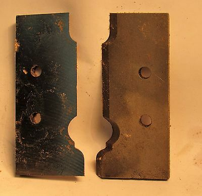"""Moulding Head Knives For Handrails - The Knives Are 3 1/4"""" Tall"""