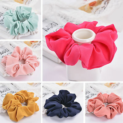 Lady Elastic Hair Scrunchies Ring Pure Color Bobble Sports Dance Scrunchie New