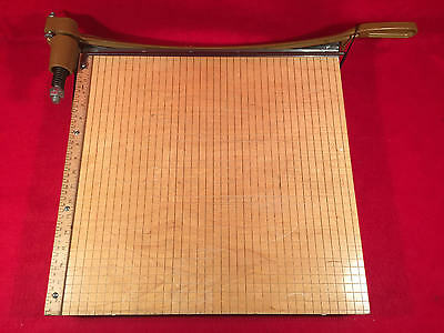 """Ingento Wood School Paper Cutter Trimmer 18"""" Guillotine 1152?"""
