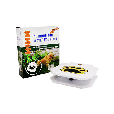 Outdoor Step Spray Dog Pet Paw Pedal Water Fountain Drinking Feeder