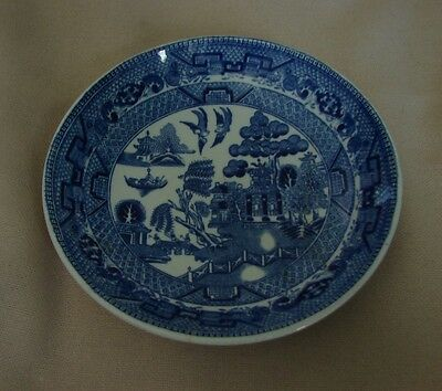 """Antique ca 1900 Blue Willow W Ridgway & Co England Small 5-1/2"""" Berry Bowl"""
