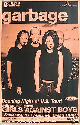 GARBAGE 1998 DENVER CONCERT TOUR POSTER - Opening Night Of The U.S. Tour
