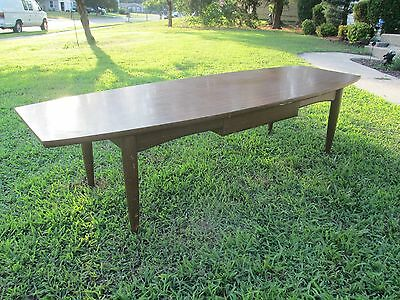 Mid Century Modern Surfboard Style Laminate Top Coffee / Cocktail Table w Drawer