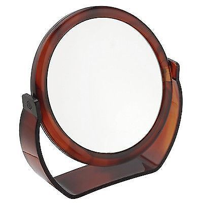 Famego Tortoiseshell Free Standing Shaving or Makeup Mirror 10X Magnifying