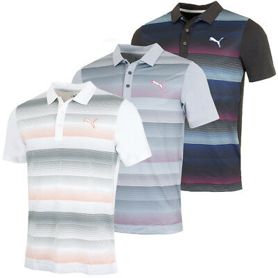 Puma Golf Mens GOTIME Road Map DryCell UV Protect Polo Shirt - 50% OFF RRP