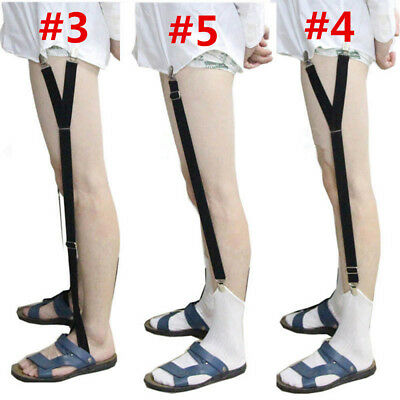 2 PCS Mens Stays Holders Shirt Garter Non-Slip Locking Clamps Belt Uniform