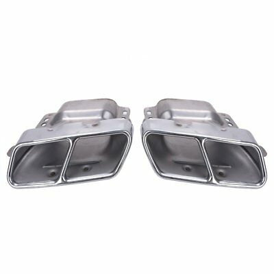 Chrome Exhaust Muffler Tips Pipe Quad For Mercedes Benz W164 W221 AMG 2005-2013
