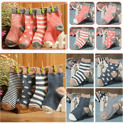 4 Pairs Cute Newborn Baby Toddler Kids Boys Girls Cotton Soft Ankle Socks 0-3Y C