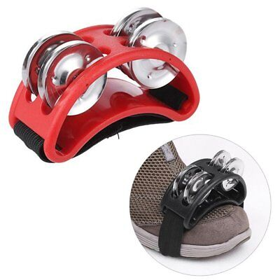 Foot Tambourine Metal Jingle Bell Percussion Musical Instrument BG