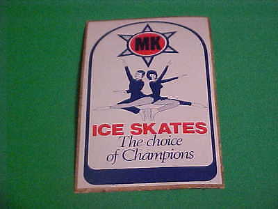 Vintage Mk Ice Skates The Choice Of Champions Decal / Sticker Advertising