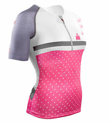 Compressport TR3 Aero T-Shirt Ironman Woman pink IM Tri226 Triathlon Shirt S M L
