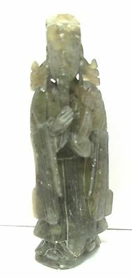 Real Green Jade Figure  Of A Man 5.inches Tall