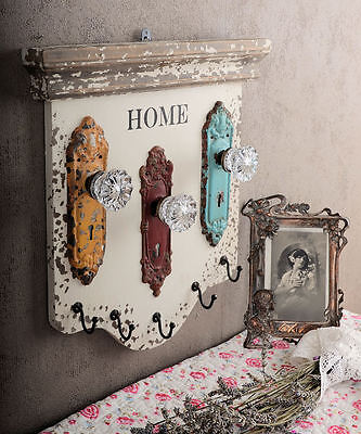 Nostalgic Hook Hook Rail Key Board Shabby Chic Antique Style