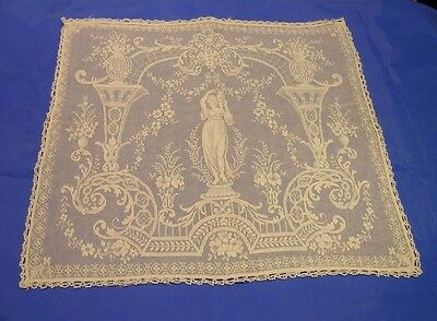 Vintage Lace Cushion Cover Grecian Lady