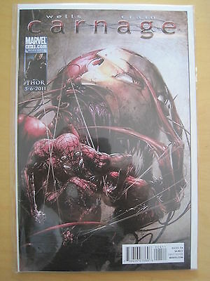 CARNAGE  #  4 ( of 5 ) by WELLS & CRAIN. SPIDERMAN. Marvel. 2011