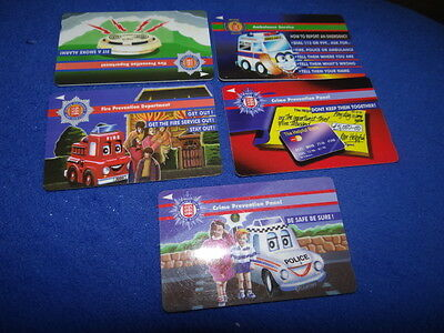 Jersey Telecoms Emergency Set of 5 Phonecards
