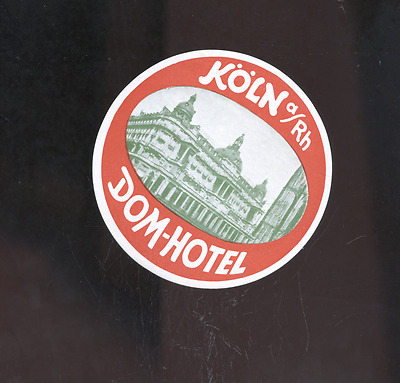 old Koln Germany luggage label,decal, Dom-Hotel