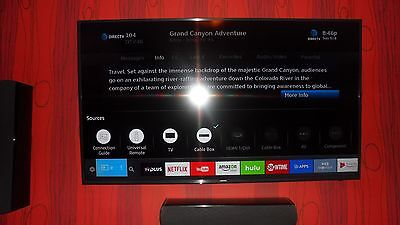 "Samsung UN60KU6300 60"" Smart 4K UHD TV with Remote WiFi Apps HDMI USB"