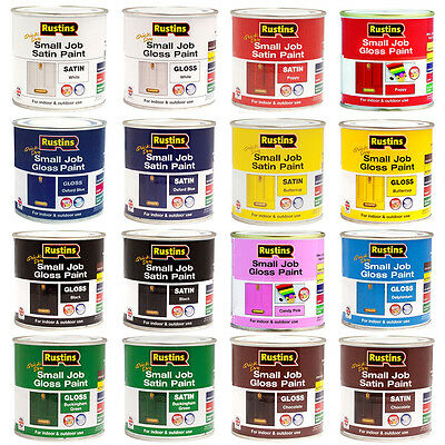 Rustins Small Job Paint Available In 250ml or 500ml - Gloss/Satin - All Colours