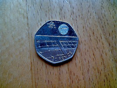 50p Coin 2012 Olympic Tennis