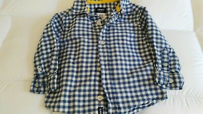 Carters blue check shirt age 18 months