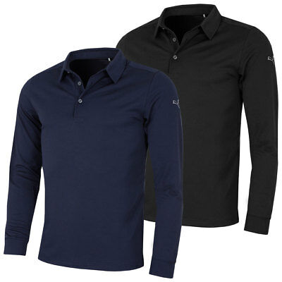 Puma Golf Mens Tailored Long Sleeve WarmCell Tech Polo Shirt - 38% OFF RRP