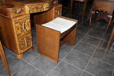 GOOD QUALITY art deco 1920s  WALNUT STOOL  EXCELLENT CONDITION