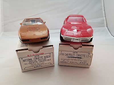 LOT of 2 DEALER PROMO 1994 Convertible 1970 Corvette LT 1