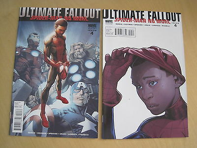 ULTIMATE FALLOUT : SPIDERMAN NO MORE 4. 1st Miles Morales.SET of BOTH 2nd PRINTS