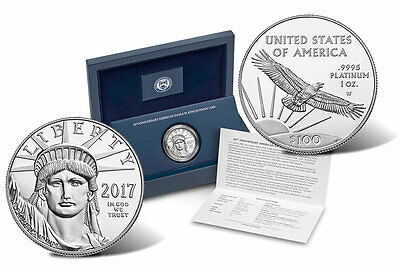 2017 W Platinum Eagle 1oz .9995 With Box and COA ( IN HAND )