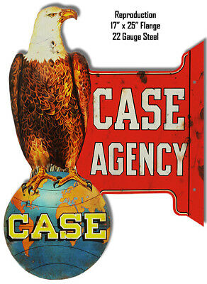 Reproduction Case Agency Laser Cut Out Metal Sign 17x25