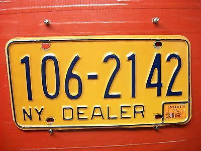 New York =1986 = Dealer  Plate = 667