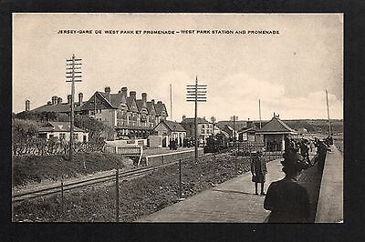 West Park Station and Promenade - printed postcard