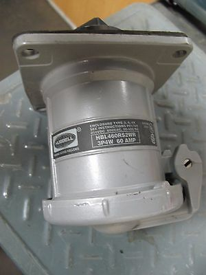Hubbell Hbl460Rswr Receptacle 3P 4W 60A Guaranteed Working Unit