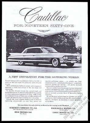 1961 Cadillac sedan photo Hawaii dealers unusual vintage print ad