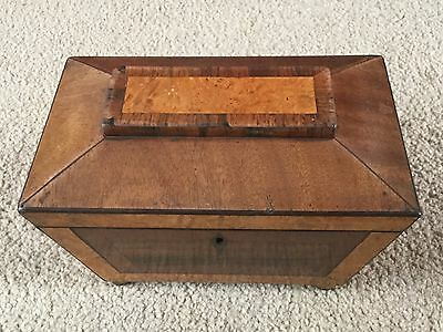 Old wooden  tea caddy