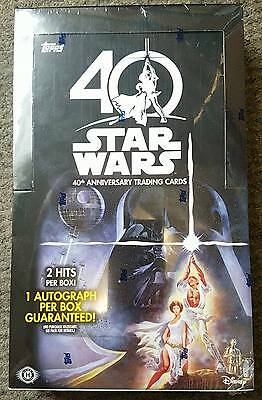Star Wars 40th Anniversary Trading Cards by Topps Factory Sealed Hobby Box *NEW*