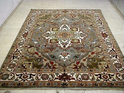 8X10 Breathtaking Mint New Hand Knotted Wool Persian Serapi Design Oriental Rug