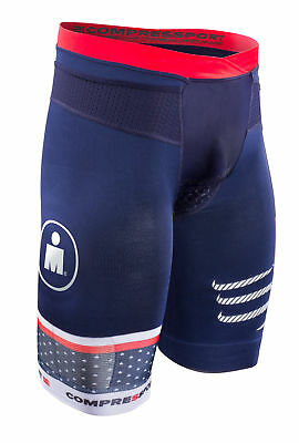 Compressport TR3 Ironman Brutal Short 2017 Blue Triathlon Tri IM Hose S M L XL