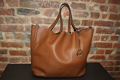 Authentic Michael Kors Brown Leather Tote Shoulder Bag  XL